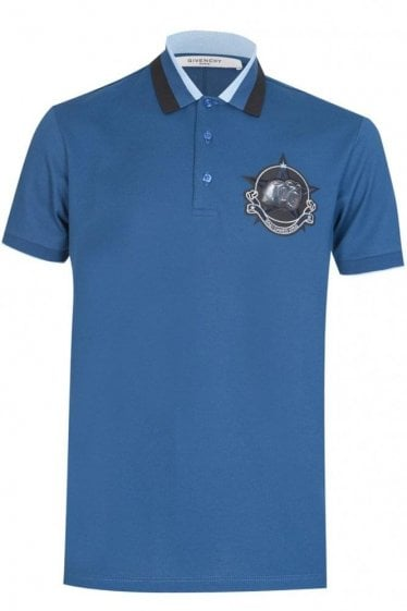 Screaming Monkeys Logo Polo Blue
