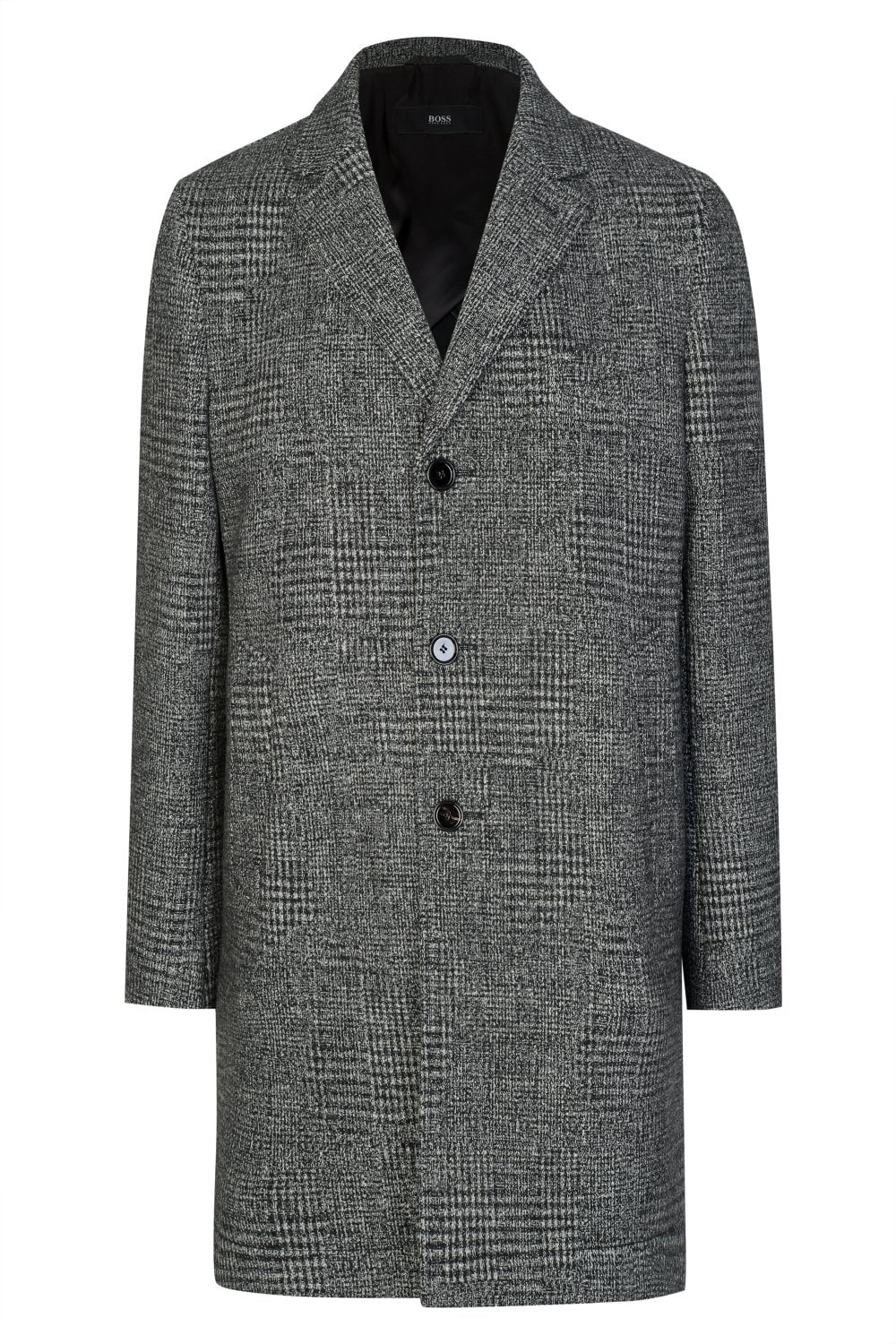59079fd2 BOSS Shawn7 Checked Coat Grey - Clothing from Circle Fashion UK