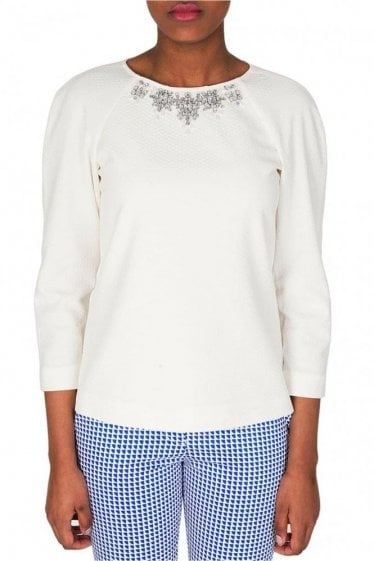 Ted Baker Embellished Cream Top