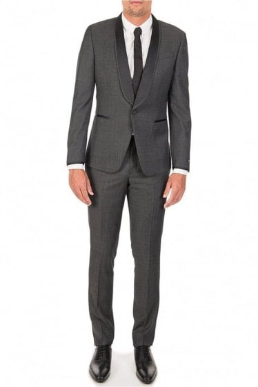 Paul Smith Kensington Contrast Lapel Wool Suit