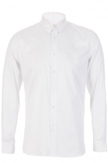 Paul Smith Polka Dot Collar Shirt White