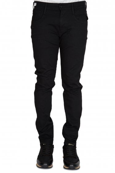 Solid Black Hyperflex Jeans