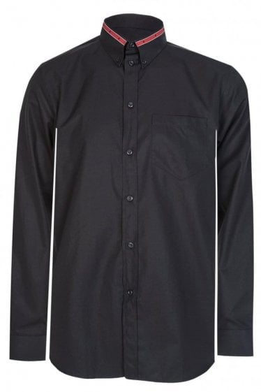 Star Tape Collar Shirt Black
