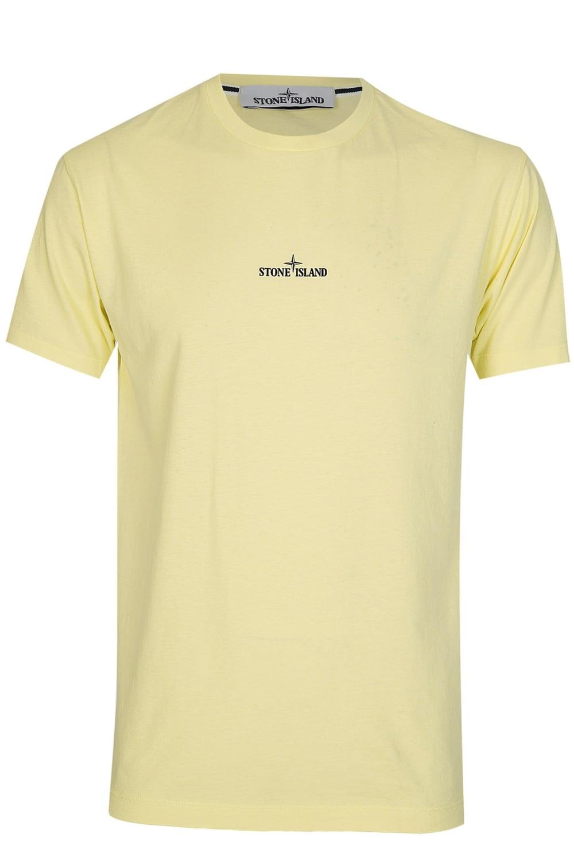 Stone Island Back Compass Logo T-Shirt Yellow 886c04b44