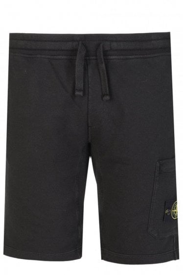 Stone Island Badge Logo Joggers Black
