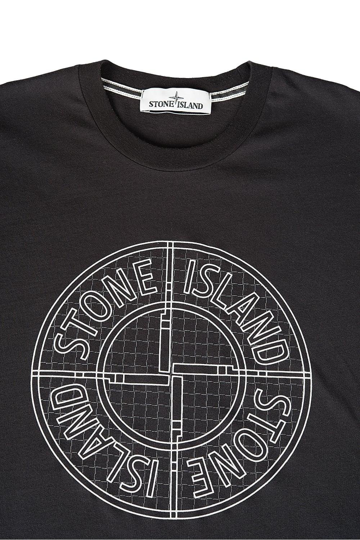 Stone Island Chest Logo T Shirt Black