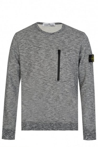 Stone Island Chest Pocket Melange Sweatshirt