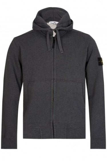 Stone Island Classic Hooded Sweatshirt Charcoal