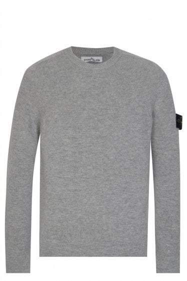 Stone Island Classic Lambswool Knitted Jumper Grey