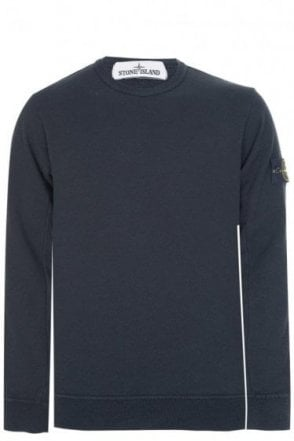 Stone Island Classic Sleeve Badge Sweatshirt Black