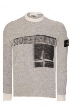 Stone Island Compass Logo Knitted Jumper Grey