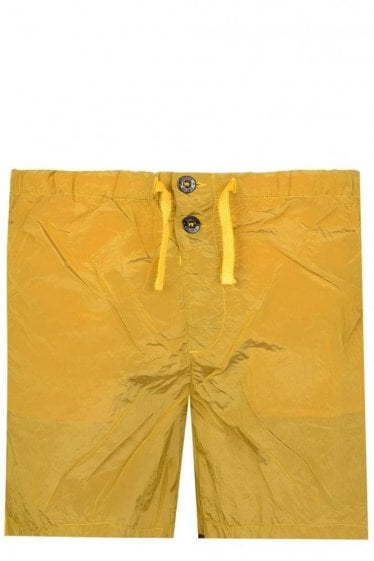 Stone Island Compass Logo Swim Shorts Yellow