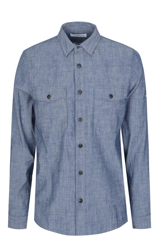 stone island denim shirt