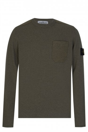Stone Island Felt Pocket Knit Sweatshirt