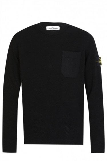Stone Island Felt Pocket Knitted Jumper
