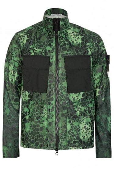 Stone Island Green Alligator Camo Jacket