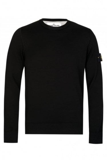 Stone Island Knitted Jumper Black