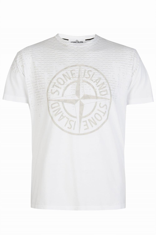 6c52de536db2 Stone Island Large Compass Logo T-Shirt White
