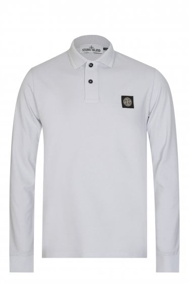 Stone Island Long Sleeved Polo Grey