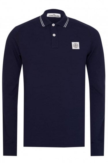 Stone Island Long Sleeved Polo Purple