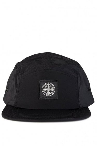 Stone Island Metallic Baseball Cap Black