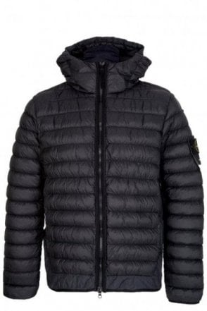 Stone Island Micro Yarn Down Jacket Black