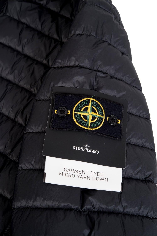 Stone Island Micro Yarn Down Jacket Black