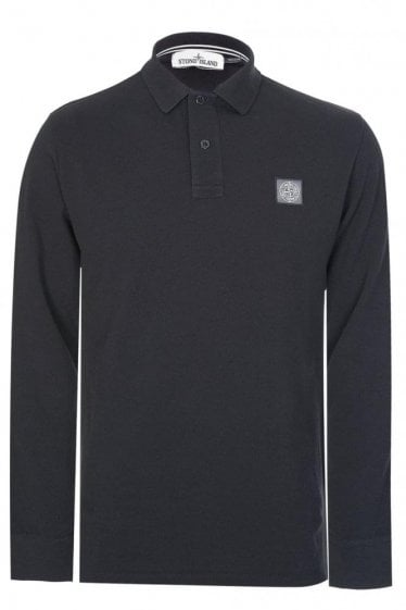 Stone Island Patch Logo Polo Black