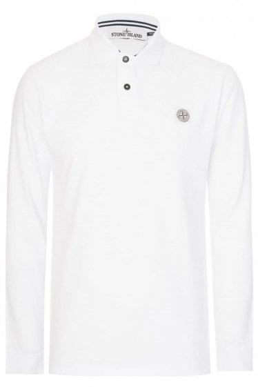 Stone Island Patch Logo Polo White