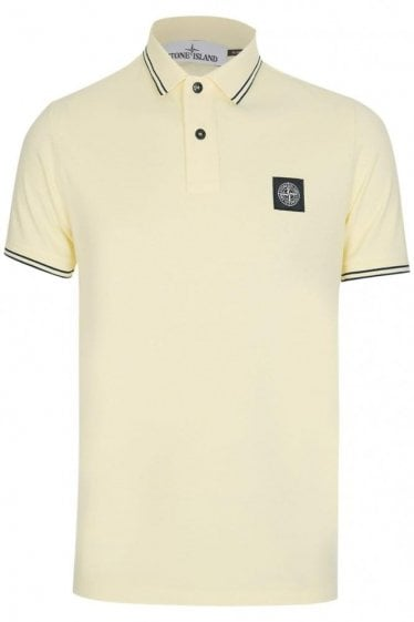 Stone Island Patch Logo Polo Yellow