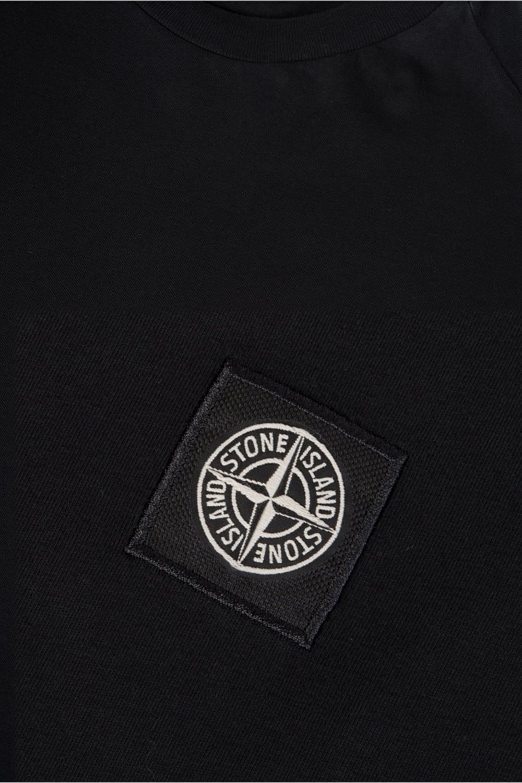 stone island patch logo t shirt black. Black Bedroom Furniture Sets. Home Design Ideas