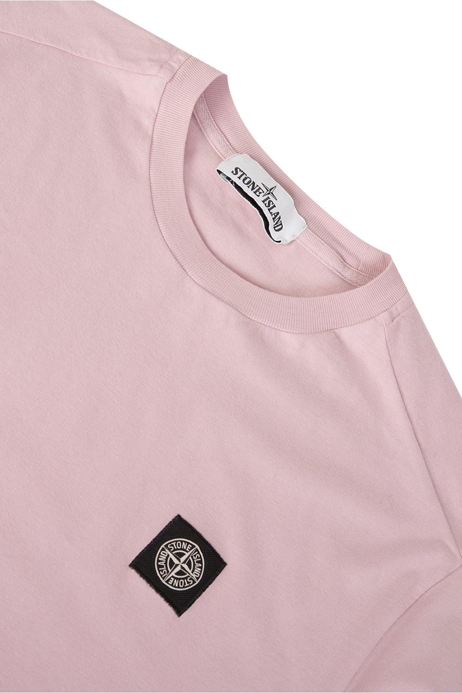 19f4fc2b Stone Island Patch Logo T-Shirt Pink