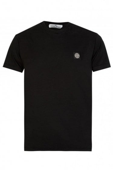 Stone Island Patch Logo Tshirt Black