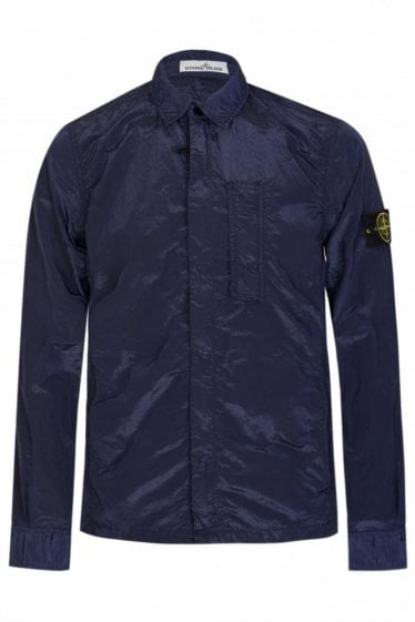 Stone Island Patch Pocket Overshirt Indigo
