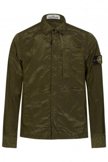 Stone Island Patch Pocket Overshirt Khaki