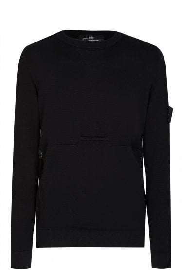 Stone Island Pouch Pocket Knitted Sweatshirt