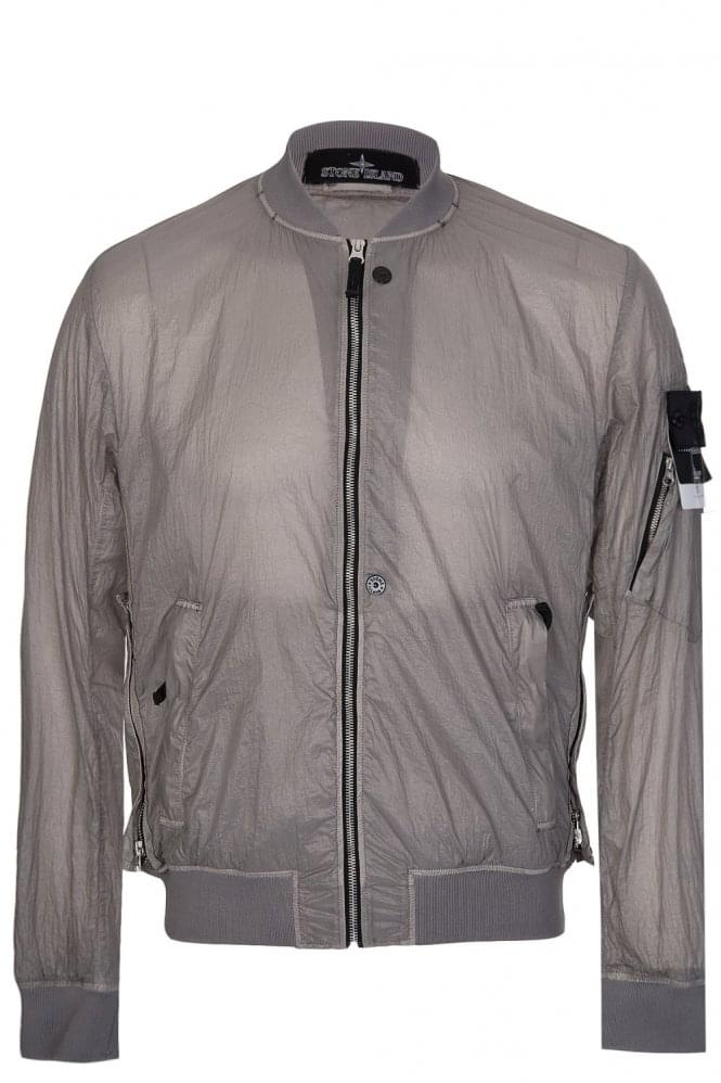 stone island shadow project bomber jacket grey