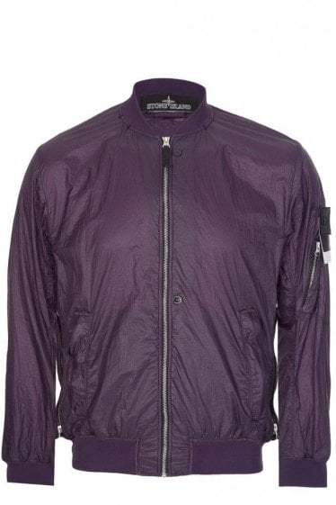 Stone Island Shadow Project Bomber Jacket Purple