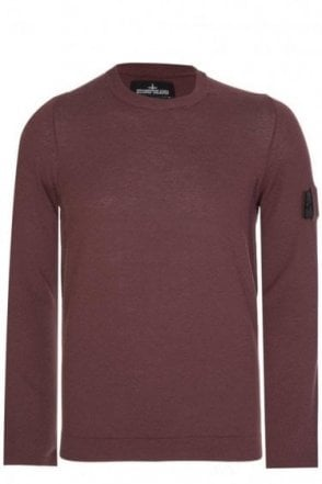 Stone Island Shadow Project Knitted Jumper Burgundy