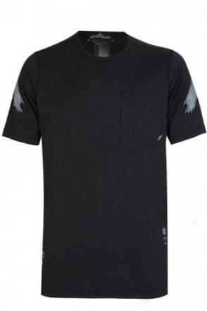 Stone Island Shadow Project Long Fit Chest Pocket T-Shirt Black