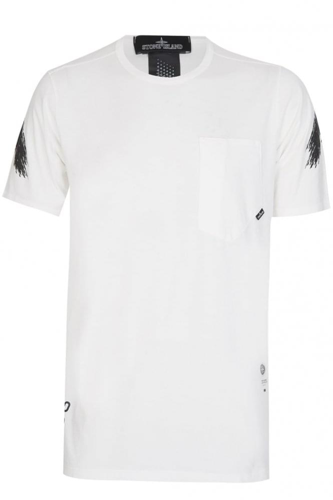 STONE ISLAND SHADOW PROJECT Long Fit Chest Pocket T-Shirt White