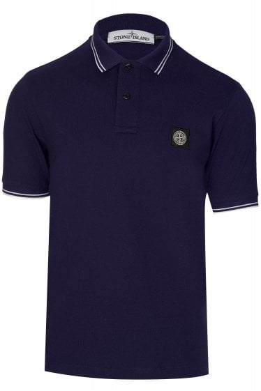 Stone Island Short Sleeved Contrast Trim Polo