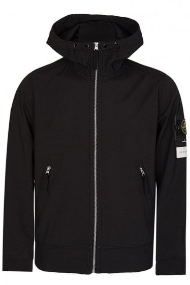 Stone Island Soft Shell Jacket Black