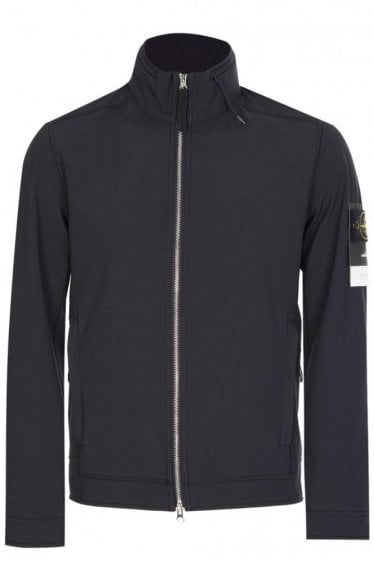 Stone Island Soft Shell Lightweight Jacket Black