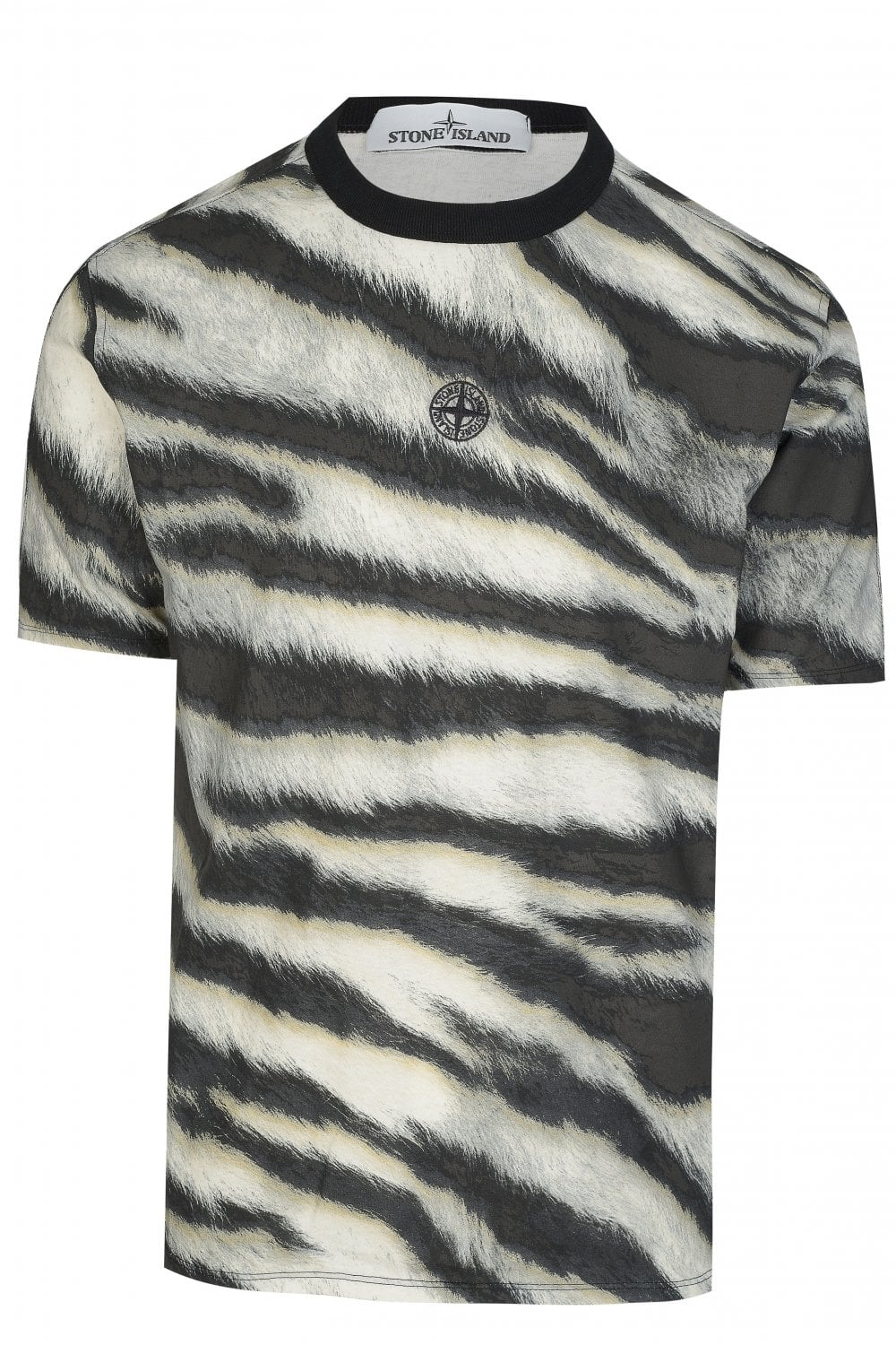 0e2a012867899 STONE ISLAND Stone Island Tiger Print Camouflage T-shirt - Clothing ...