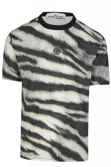 Stone Island Tiger Print Camouflage T-shirt