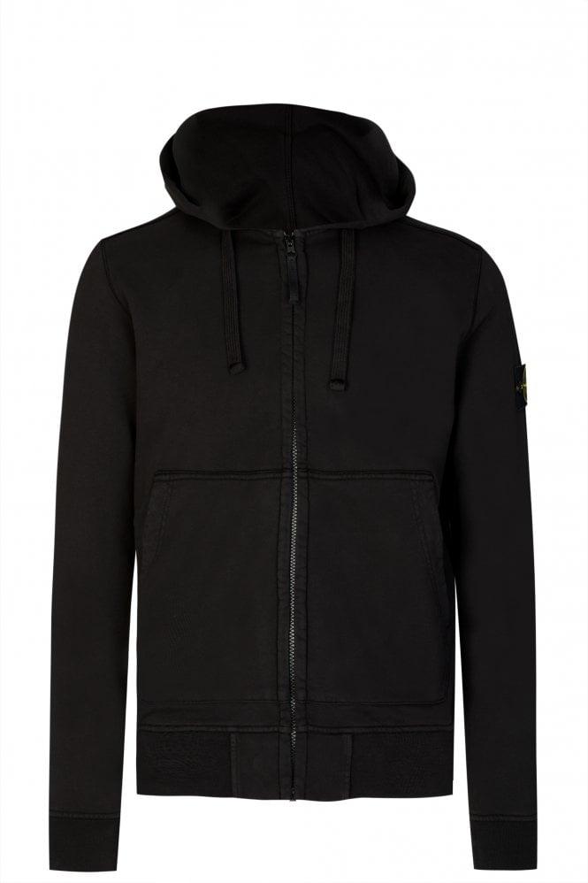 Stone Island Zip-through Hooded Sweatshirt