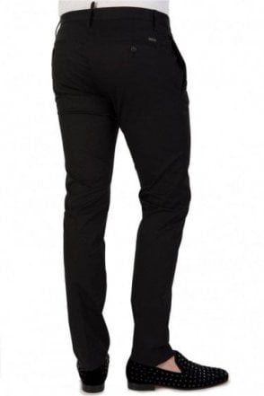 Dsquared Stretch Twill Cotton Trousers Black