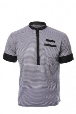 "Daniele Alessandrini Stripe T-Shirt-52 (UK42"")"