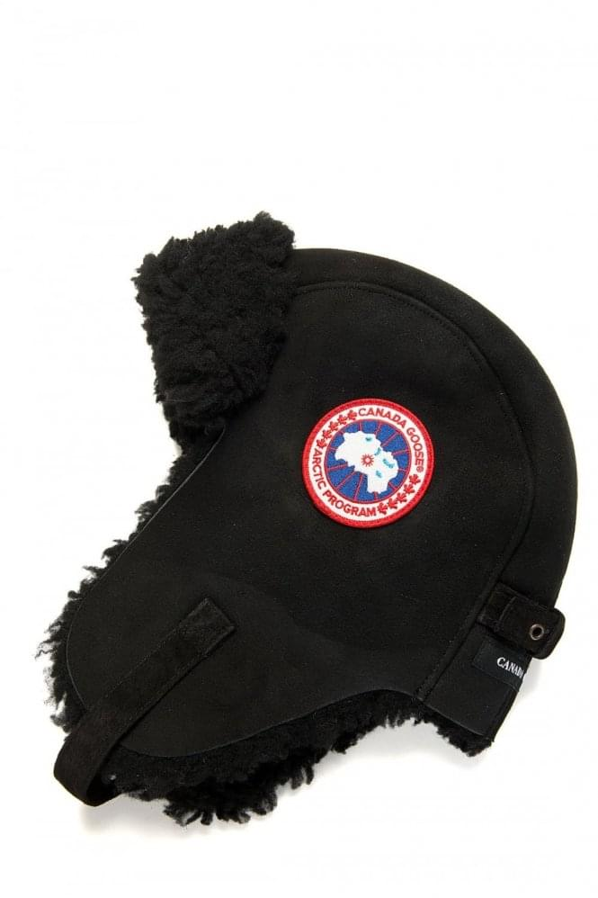 CANADA GOOSE Suede Sherling Pilot Hat